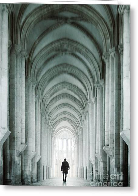 Cloister Greeting Cards - Temple Walker Greeting Card by Carlos Caetano