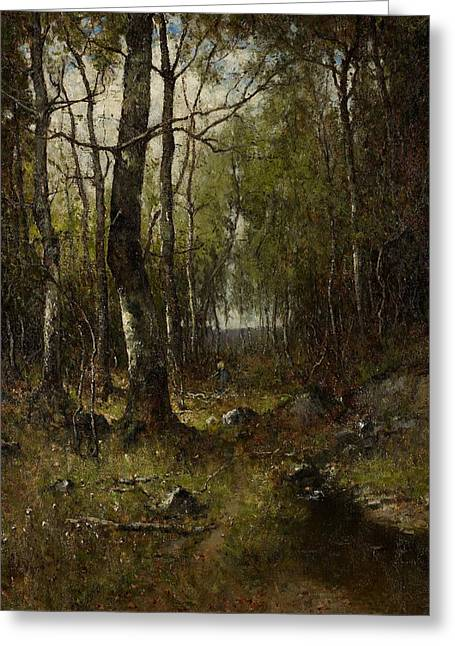 Birch Tree Greeting Cards - Temple Woods Greeting Card by Max Weyl