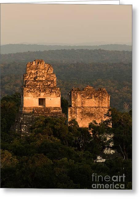 Gran Jaguar Greeting Cards - Temples 1 and 2 -  #3 Greeting Card by Dan Hartford