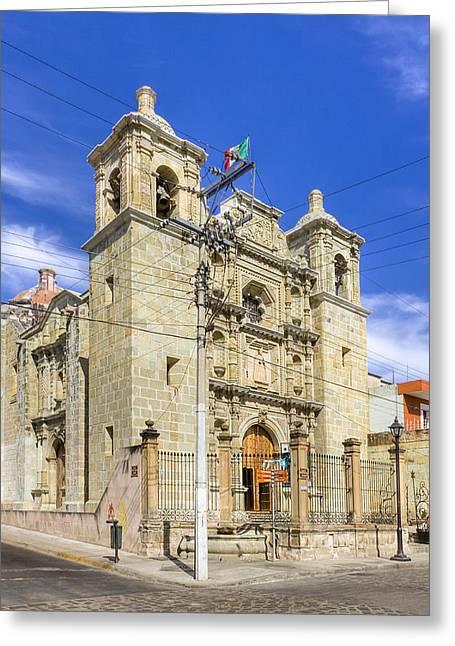 Oaxaca Greeting Cards - Templo de San Felipe Neri - Oaxaca Greeting Card by Mark Tisdale