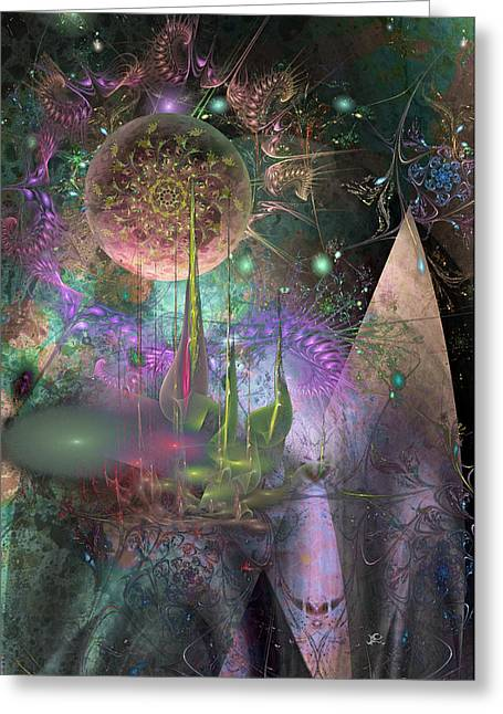 Fractal Orbs Greeting Cards - Temporal Restraint Greeting Card by Chris Girard