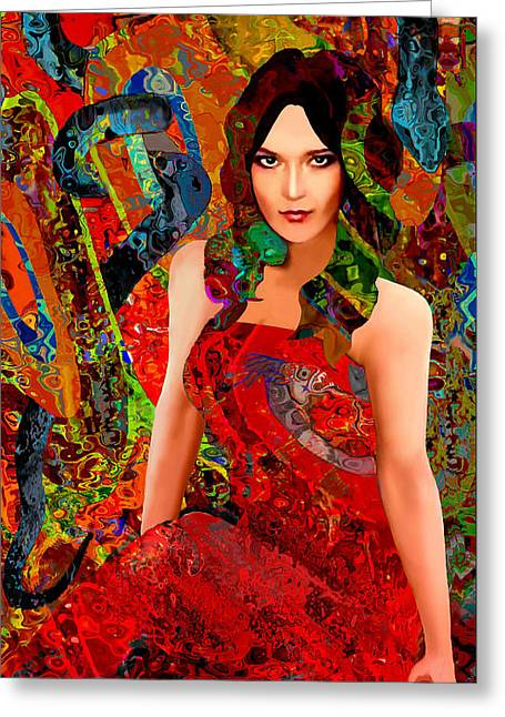 Damnation Greeting Cards - Temptation Greeting Card by Jann Paxton