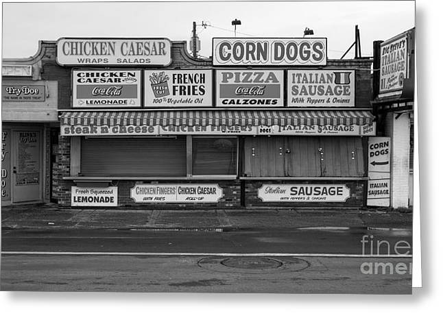 Sausages Greeting Cards - Temptations at Hampton Beach Greeting Card by Edward Fielding