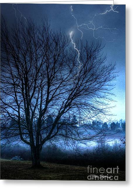 Abstract Rain Greeting Cards - Tempting Fate Greeting Card by Dan Stone