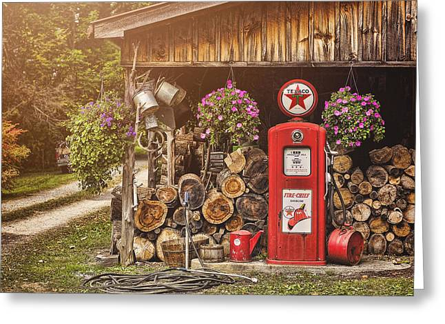 Canned Goods Greeting Cards - Ten Cents a Gallon Greeting Card by Heather Applegate