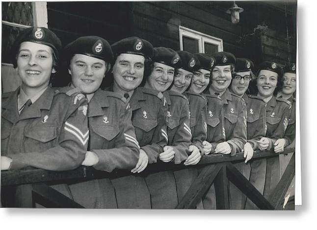 Retro Photography Greeting Cards - Ten Members Of The W.r.a.c. Prepare For Australia. To Work At Woomera..... Greeting Card by Retro Images Archive