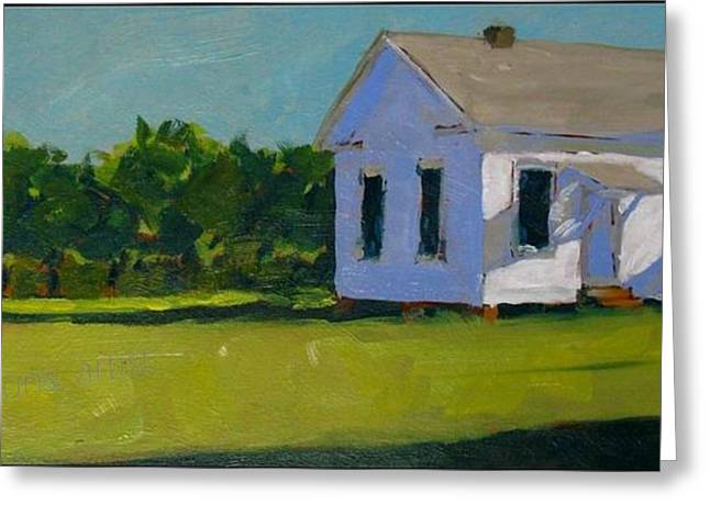 Old School Houses Paintings Greeting Cards - Ten  Six  Eleven Greeting Card by David Simmons