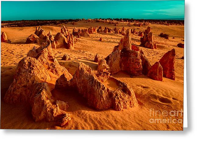 Petrified Greeting Cards - Ten Thousand Years Ago Greeting Card by Julian Cook