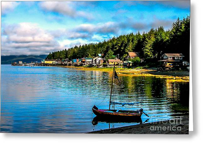 Tongass Greeting Cards - Tenakee Springs Greeting Card by Robert Bales