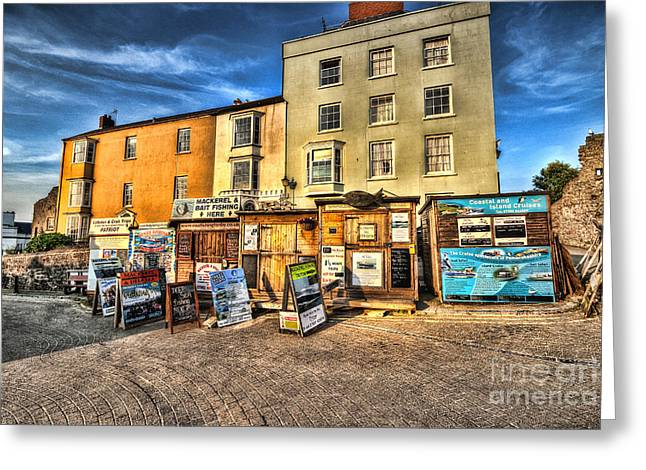 Sand Castles Greeting Cards - Tenby Boat Trips Greeting Card by Steve Purnell