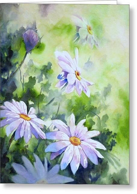 Process Greeting Cards - Tender Daisies Greeting Card by Georgiana Romanovna