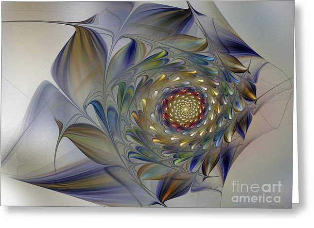 Flowery Greeting Cards - Tender Flowers Dream-Fractal Art Greeting Card by Karin Kuhlmann