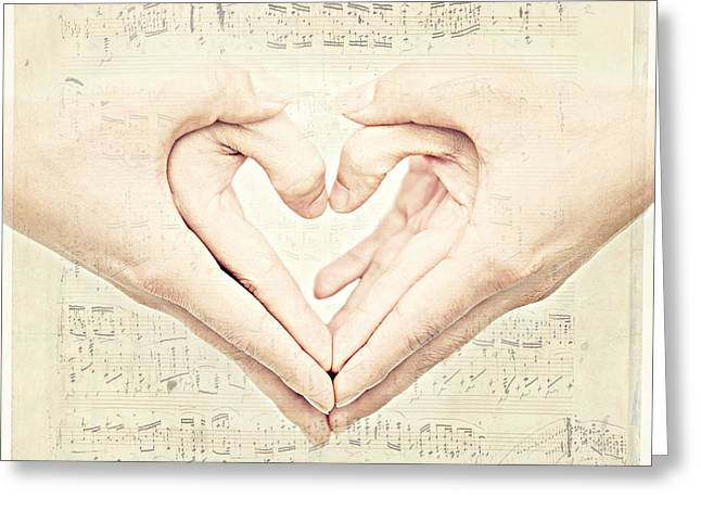 Hands Of Love Greeting Cards - Tenderness Greeting Card by Heike Hultsch