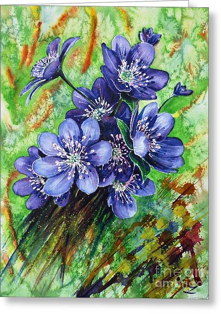 Tenderness Of Spring Greeting Card by Zaira Dzhaubaeva