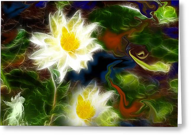 Meditative Art Greeting Cards - Tending Her Garden Greeting Card by Patricia Motley