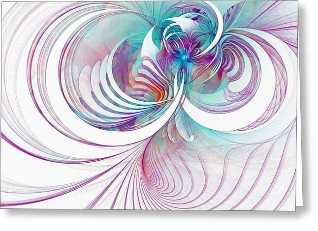 Abstract Digital Digital Greeting Cards - Tendrils 02 Greeting Card by Amanda Moore