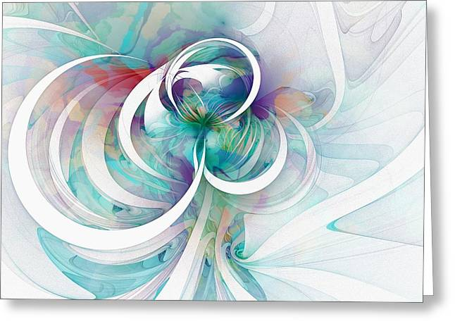 Abstract Digital Digital Greeting Cards - Tendrils 03 Greeting Card by Amanda Moore