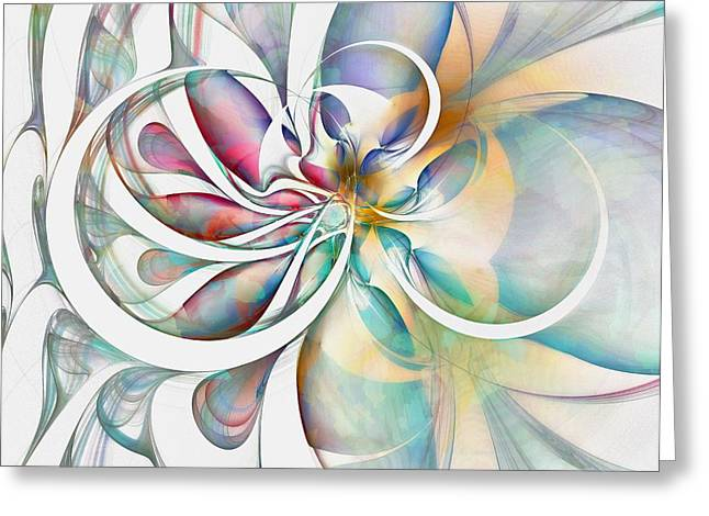 Tendrils Greeting Cards - Tendrils 04 Greeting Card by Amanda Moore