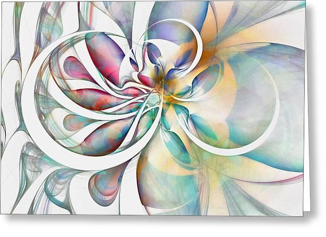 Tendrils 04 Greeting Card by Amanda Moore