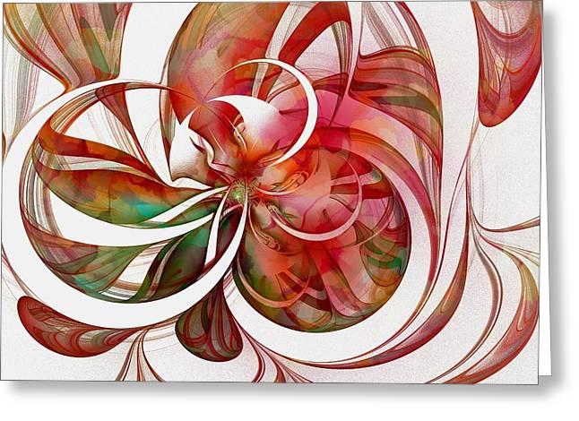 Tendrils Greeting Cards - Tendrils 05 Greeting Card by Amanda Moore