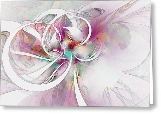 Tendrils 07 Greeting Card by Amanda Moore