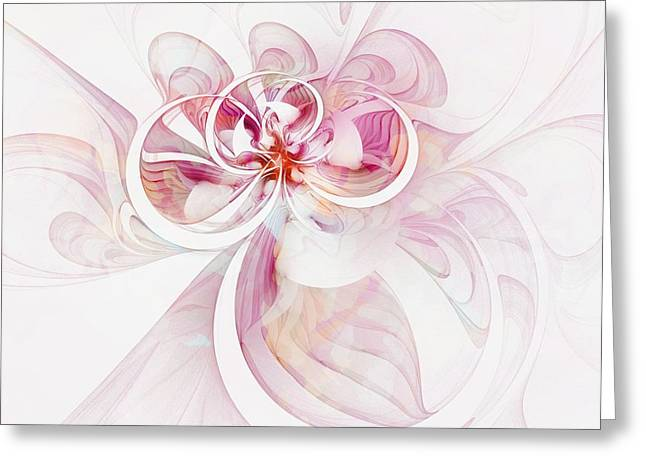 Floral Digital Art Digital Art Greeting Cards - Tendrils 12 Greeting Card by Amanda Moore