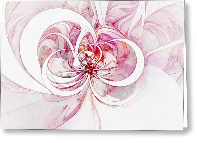 Floral Digital Art Digital Art Greeting Cards - Tendrils 13 Greeting Card by Amanda Moore
