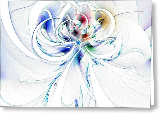 Floral Digital Art Digital Art Greeting Cards - Tendrils 16 Greeting Card by Amanda Moore