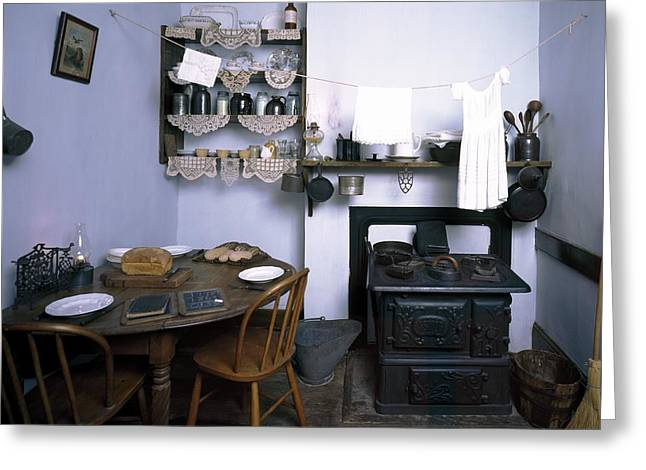 Sociology Greeting Cards - Tenement museum kitchen display Greeting Card by Science Photo Library