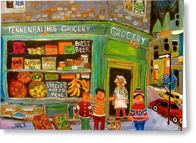 Litvack Greeting Cards - Tennenbaums Grocery Depanneur Greeting Card by Michael Litvack