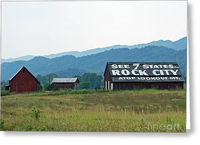 Tennessee Barn Greeting Card by Roger Potts