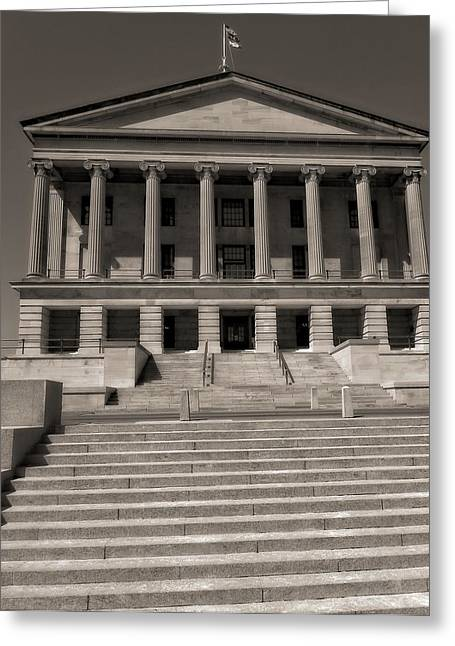 Tennessee Landmark Greeting Cards - Tennessee Capitol Building Greeting Card by Dan Sproul