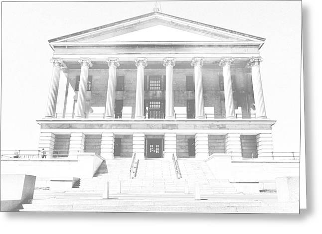 Tennessee Drawings Greeting Cards - Tennessee Capitol Building Sketch Greeting Card by Dan Sproul