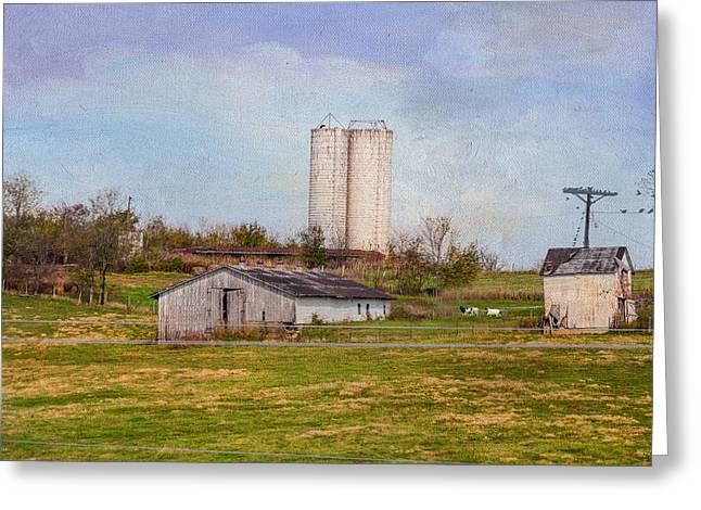 Tennessee Barn Digital Art Greeting Cards - Tennessee Country Farm Greeting Card by Mary Timman