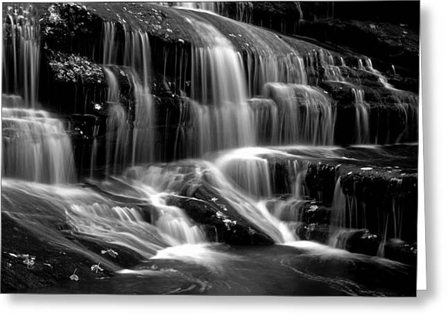Bw Waterfalls Greeting Cards - Tennessee Falls - BW Greeting Card by Paul W Faust -  Impressions of Light