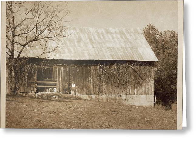 Tennessee Barn Digital Art Greeting Cards - Tennessee Farm Vintage Barn Greeting Card by Phil Perkins