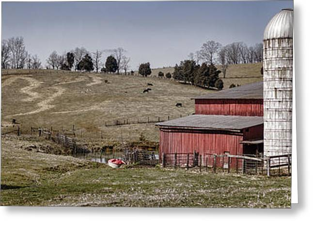 Tn Barn Greeting Cards - Tennessee Farmstead Greeting Card by Heather Applegate