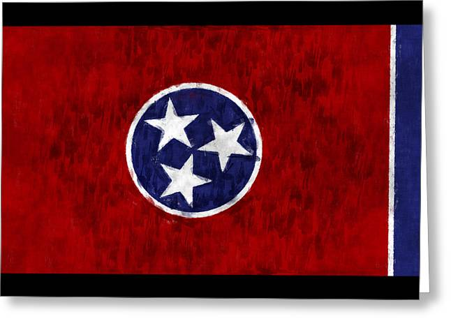 Tennessee Flag Greeting Card by World Art Prints And Designs
