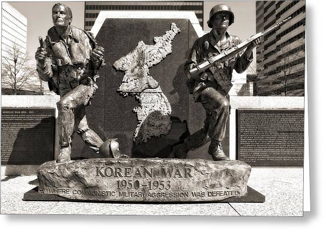Nashville Tennessee Greeting Cards - Tennessee Korean War Memorial Greeting Card by Dan Sproul