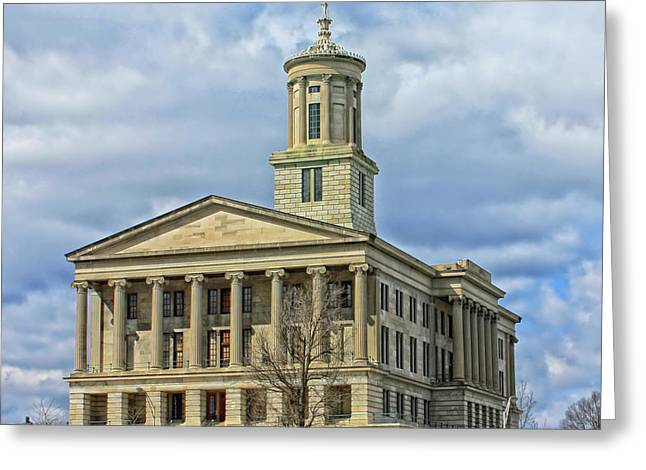 Tennessee Landmark Greeting Cards - Tennessee State Capitol - Nashville Greeting Card by Mountain Dreams