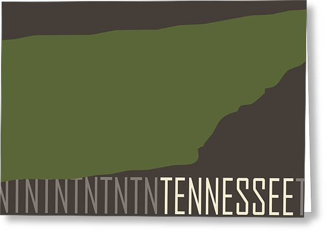 Tennessee State Modern Greeting Card by Flo Karp