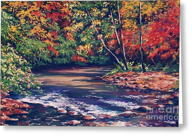 Caves Pastels Greeting Cards - Tennessee Stream in the Fall Greeting Card by John Clark