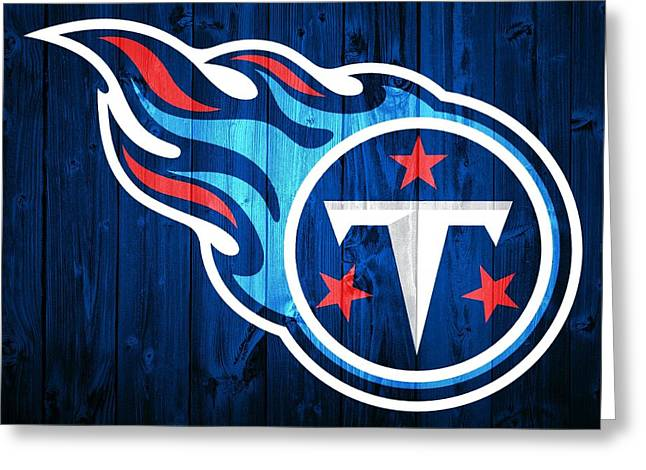 National Mixed Media Greeting Cards - Tennessee Titans Barn Door Greeting Card by Dan Sproul