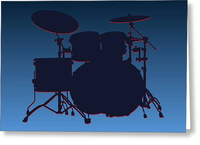 Drum Greeting Cards - Tennessee Titans Drum Set Greeting Card by Joe Hamilton