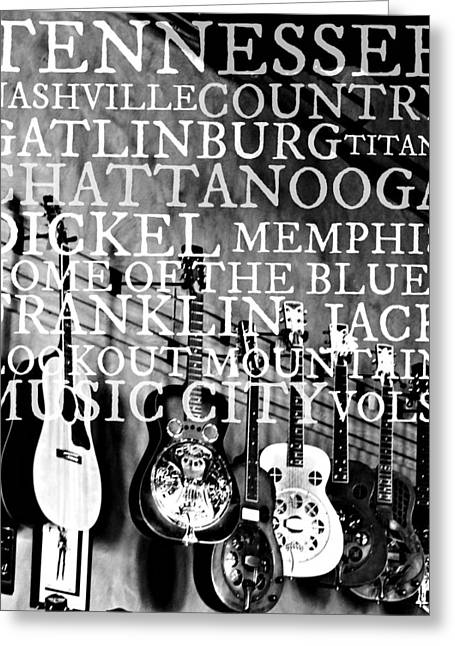 Franklin Tennessee Greeting Cards - Tennessee Words Sign Greeting Card by Chastity Hoff