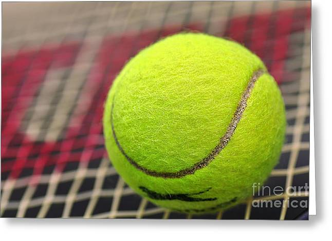 Recently Sold -  - Racquet Greeting Cards - Tennis Anyone... Greeting Card by Kaye Menner