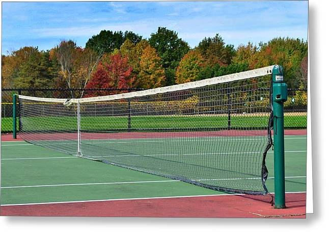 Wimbledon Greeting Cards - Tennis Anyone Greeting Card by Frozen in Time Fine Art Photography