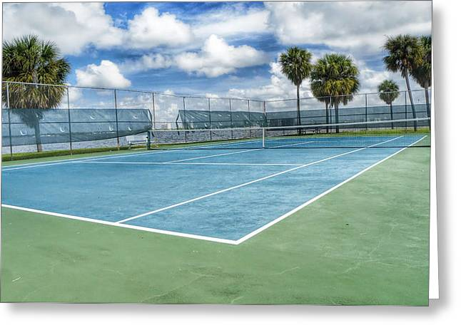Hardcourt Greeting Cards - Tennis by the Bay Greeting Card by Carlos Paul Ramos