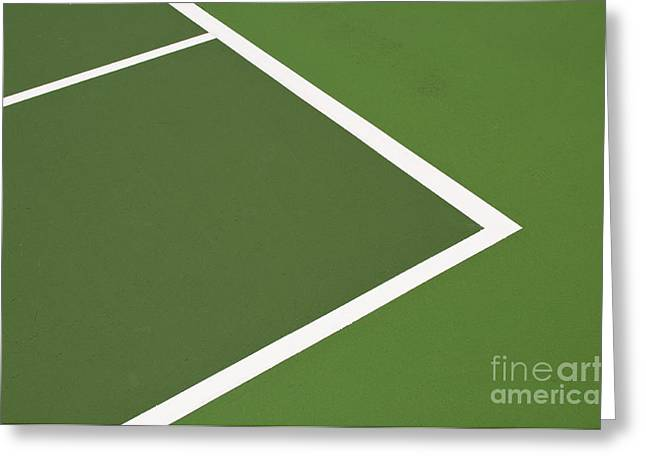 Hardcourt Greeting Cards - Tennis court Greeting Card by Luis Alvarenga