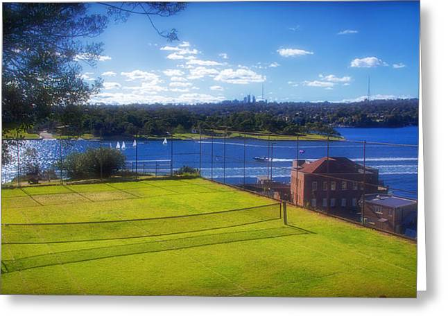 Seasons.net Greeting Cards - Tennis Court on Cockatoo Island Greeting Card by Mountain Dreams
